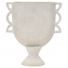 Matte White Ceramic Vase in Geometric Shapes by John Born