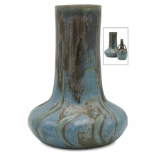 French Blue/Brown Denbac Vase