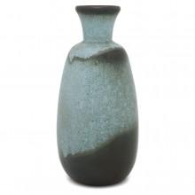Blue and Olive Ceramic Vase