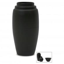 Medium Black Porcelain Stepped Vase