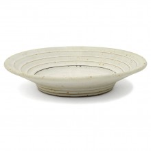 Ribbed Stoneware Plate