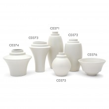 Grouping of Stepped Porcelain Vases and Bowls