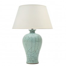 Celadon Crackle Glazed Table Lamp