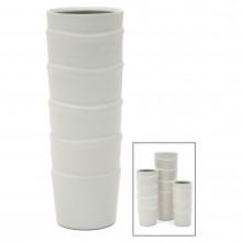 Large Slip Edge Porcelain Vase