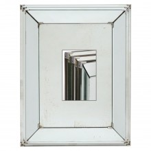 Stepped Framed Mirror