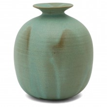 Light Green Studio Stoneware Vase