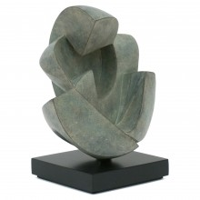 Abstract Bronze Figural Sculpture