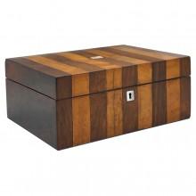 Large Striped Wood Box