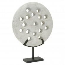Pierced Circular Stone Wheel on Stand