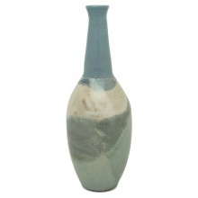 Studio Art Pottery in Blues and Beige