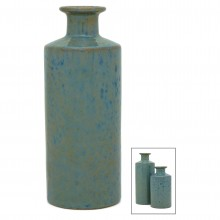 Blue Irridescent Bottle Vase