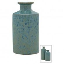 Small Blue Irridescent Bottle Vase