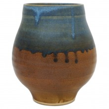 Blue and Brown Drip Glaze Vase