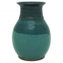 Two Color Blue Green Vase