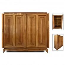 Sculptural Art Deco Walnut Cabinet