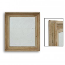 Rustic Carved Pine Mirror