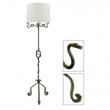 Patinated Iron Standing Lamp
