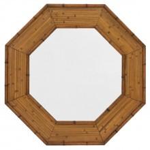 Hexagonal Rattan Mirror
