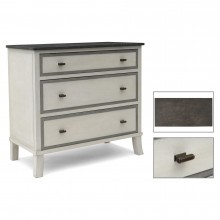 White Painted French Commode