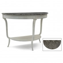 Painted Demi-lune with Marble Top