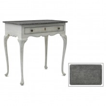 Gray Painted Table with Faux Belgian Bluestone Top
