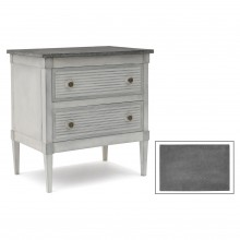 Gray/Blue Painted Small Commode