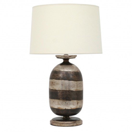Urn Shaped Silver Gilt Table Lamp