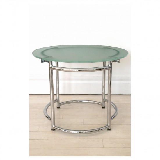 Mobilier International Round Chrome Table