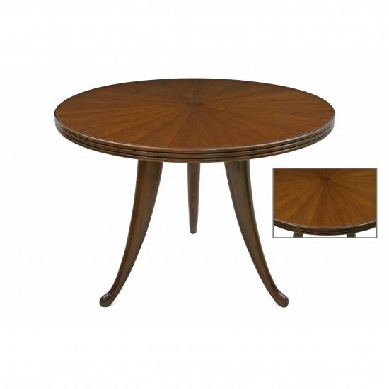 Round Oak Table On Tripod Base