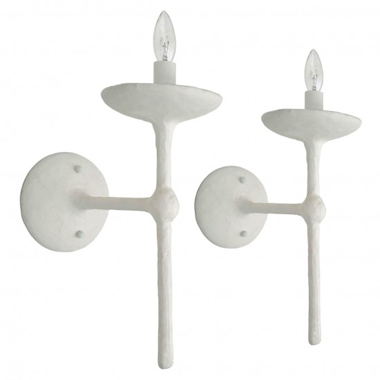 Pair of Plaster Clad Sconces