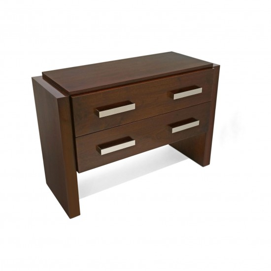 Limited Edition Walnut Two Drawer Night Stands