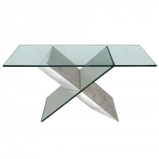 Roche Bobois Consolle.Console Table In Marble And Glass By Reflex For Roche Bobois