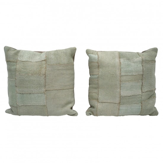 Square Cushions from Antique Cotton Kilim