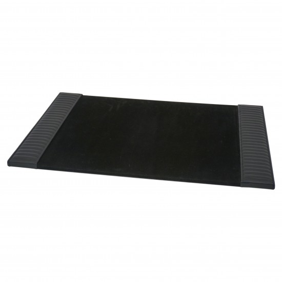 Italian Black Leather Desk Blotter