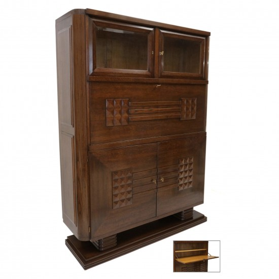 Oak Cabinet in Three Sections by Dudouyt