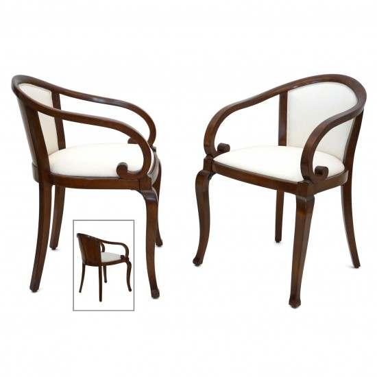 Pair Of Thonet Bentwood Armchairs B6773 Bk Antiques