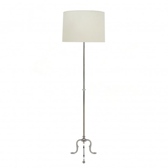 Silver Plated Brass Standing Lamp