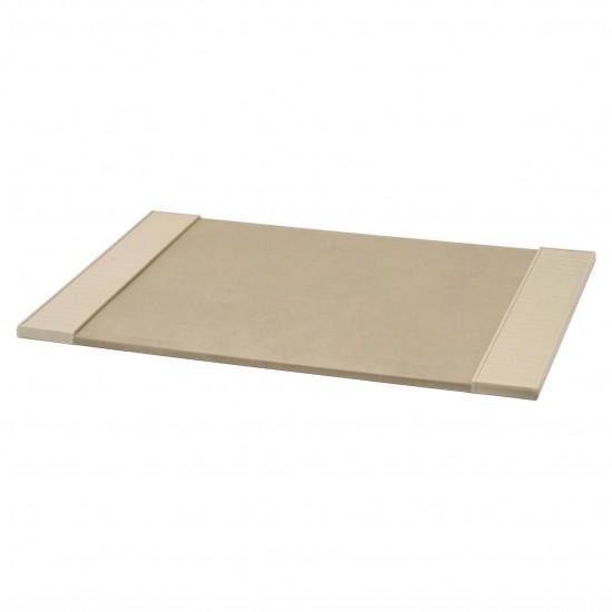 Italian Ivory Leather Desk Blotter