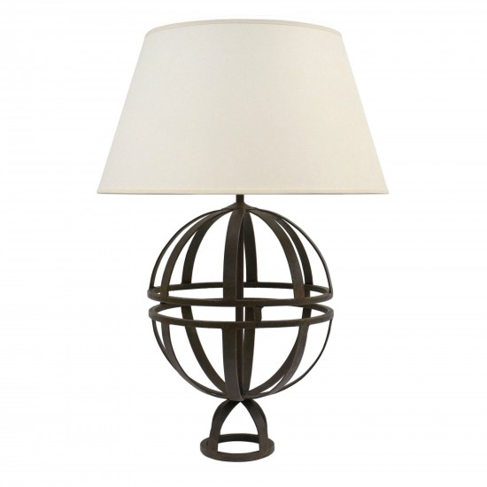 Spherical Iron Open Table Lamp B7412 Bk Antiques