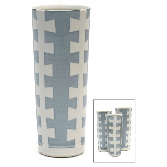 "Porcelain Studio Art ""Zipper"" Vase"