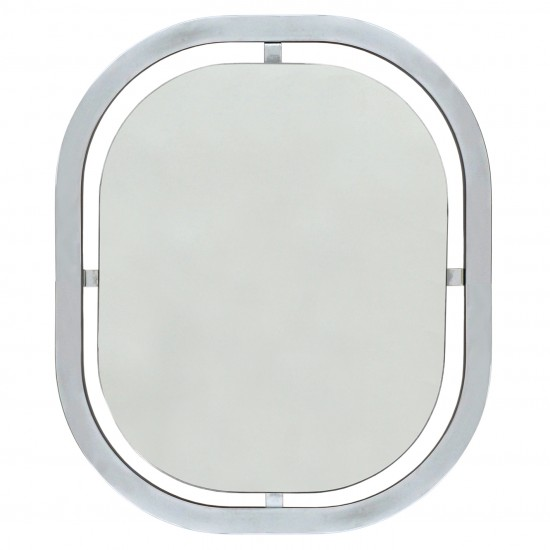 Chrome Mirror with Rounded Corners