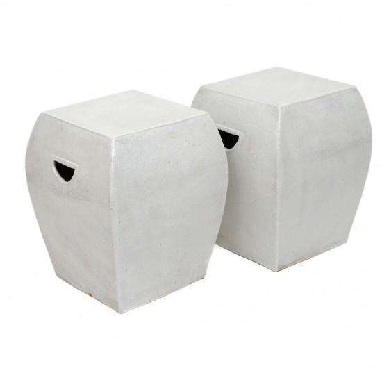 Glazed Terra Cotta Garden Seats