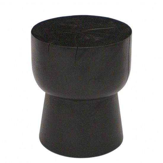 Round Suar Wood Side Table or Stool