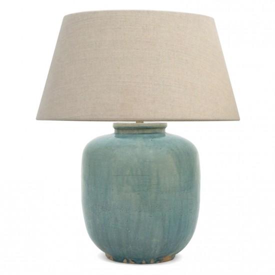 Blue Ceramic Table Lamp B8306 Bk Antiques