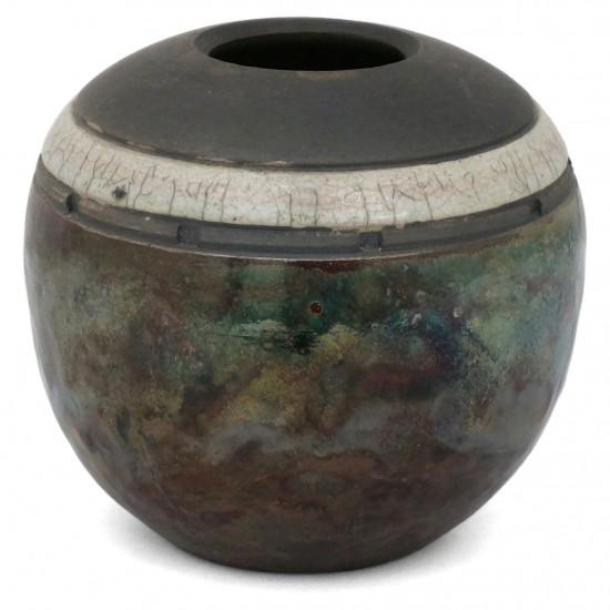 Raku Stoneware Vase