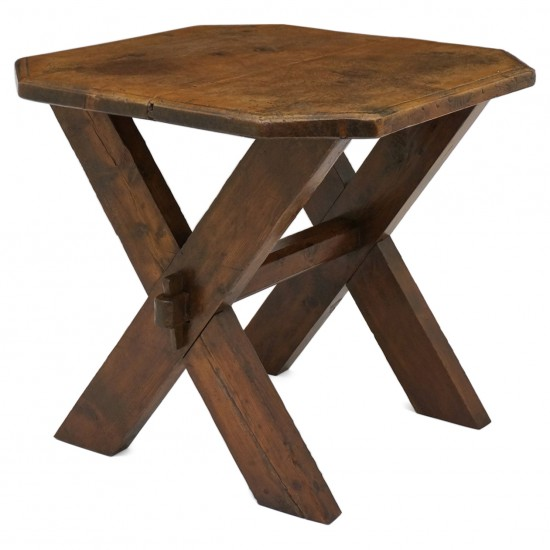 Swiss Octagonal Walnut Table