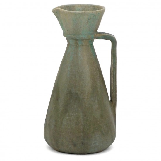 French Drip Glazed Green Pitcher