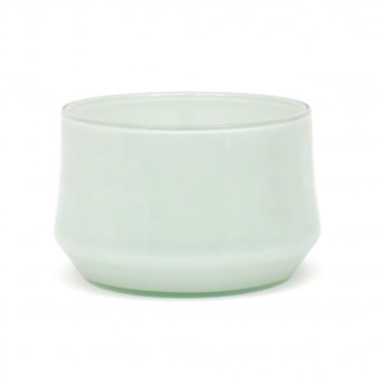 Hand Blown White Glass Bowl