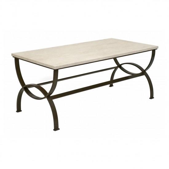 Curule Form Iron Coffee Table