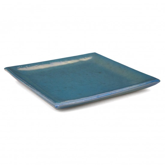 Square Ceramic Blue Plate